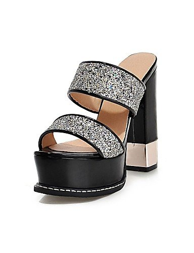 LFNLYX Zapatos de mujer-Tacón Robusto-Tacones / Plataforma / Talón Descubierto / Punta Abierta-Sandalias-Boda / Vestido / Fiesta y Noche- White