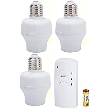 wireless lighting fixtures. etekdirect remote control wireless light bulb socket switch for lamps bulbs and fixtures 3 sockets lighting e