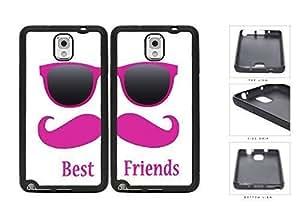 Best Friends Pink Mustache Sunglasses Hard Plastic Snap On Cell Phone Case Samsung Galaxy Note 3 III N9000 N9002 N9005