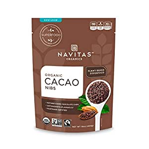 Navitas Organics Cacao Nibs, 16 oz. Bag, 15 Servings — Organic, Non-GMO, Fair Trade, Gluten-Free