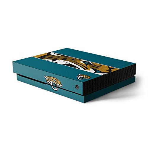 Skinit NFL Jacksonville Jaguars Xbox One X Console Skin - Jacksonville Jaguars Zone Block Design - Ultra Thin, Lightweight Vinyl Decal Protection