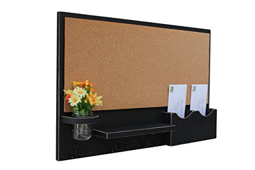 Legacy Studio Decor Cork Board Mail & Letter Holder with Key