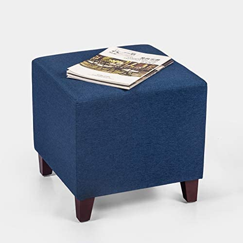 Adeco Simple British Style Cube Footstool Ottoman bench foot rest