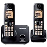 Panasonic Single Line 2.4GHz KX-TG3712SXB Digital Cordless Telephone (Black)