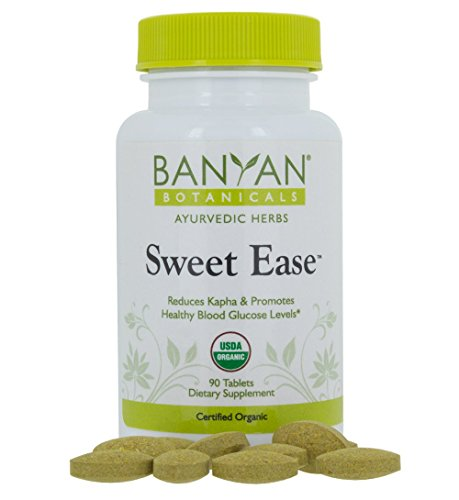 Banyan Botanicals Sweet Ease - Certified Organic, 90 Tablets - Reduces Kapha and Promotes Healthy Blood Glucose Levels (Sugar Botanicals)