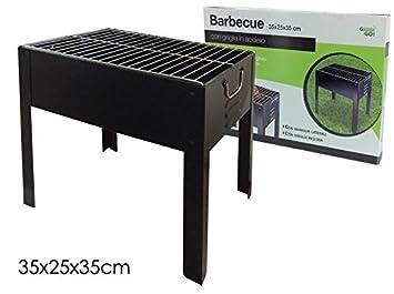 Vilys House Barbacoa de hierro sobremesa para carbón en color negro 35x25x35