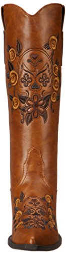 Roper Women's Dawn Western Boot,Floral/Skull Tan,8.5 M US