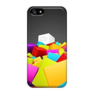 New Fashion Premium Cases Covers For Iphone 5/5s - 3d Colorful Squares
