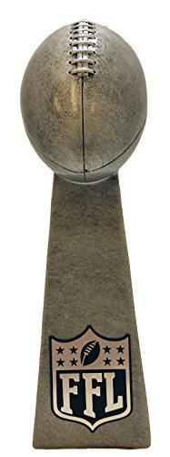 Fantasy Football FFL Silver Tower Trophy - 9.5 Inches Tall