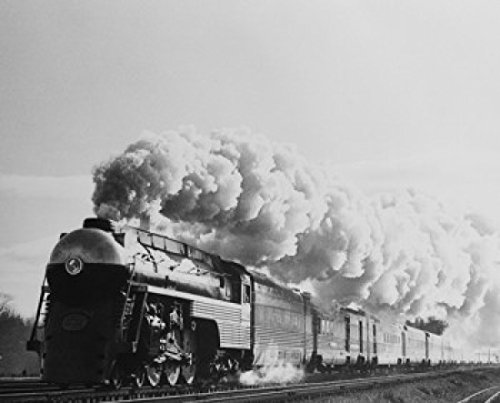 USA New York Central and Hudson River Railroad Empire State Express Train on road Poster Print (24 x 36) (York Railroad Central New Stock)