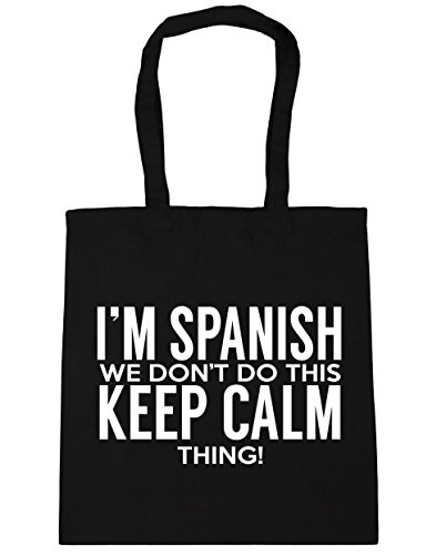 this 10 don't Beach HippoWarehouse do Shopping Tote thing we Black Spanish 42cm I'm Gym keep calm Bag x38cm litres 7ttwaX