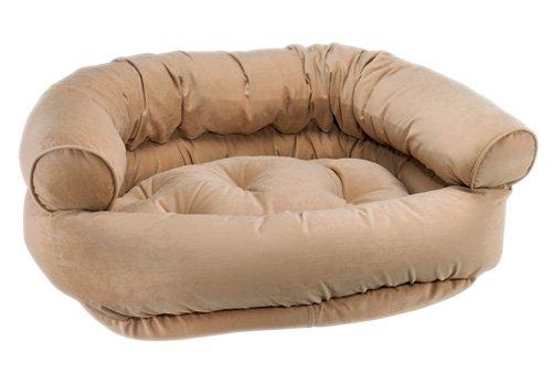 Khaki Microvelvet Double Donut Bed (SMALL) (Donut Double Microvelvet Bed)
