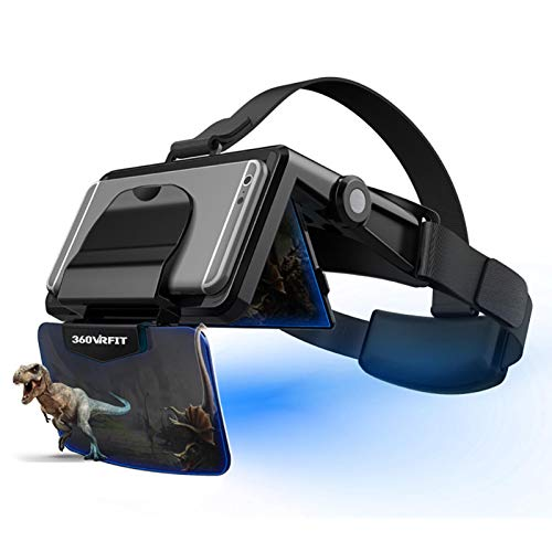 VR Glasses,portable Goggles Headset For 4.7-6.0 Inch Mobile Phones With 3d Hd 360 Virtual Reality Compatible Ios Android…