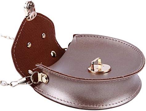 SEVENHOPE レディース ミニ キュート ネックレス 斜め掛けバッグ 財布 小さなメッセンジャーバッグ 子供用 丸型ショルダーバッグ 11.8*3*10.5cm ゴールド DFGGJHK105