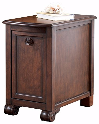 nature Design - Brookfield Chair Side End Table - Rectangular - Grand Elegance - Dark Brown (Collection Seven Drawer Dresser)