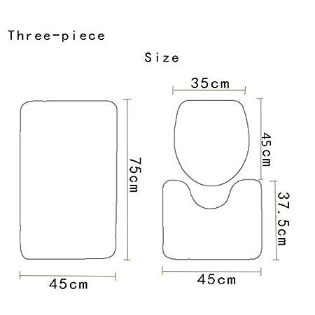 Moquette Berrd Set da 3 Pezzi//Set di tappetini da Bagno in Microfibra con Base in Marmo Tappeto Assorbente Antiscivolo e Tappeto per Bagno coprivaso 1
