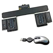 Amsahr Replacement Battery for Apple A1425, A1437, MacBook Pro 13.3 inch MD212*/A, MD212B/A - Includes Mini Optical Mouse
