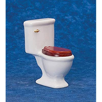 Dollhouse Miniature 1:12 Scale Single White Toilet by Handley House: Toys & Games