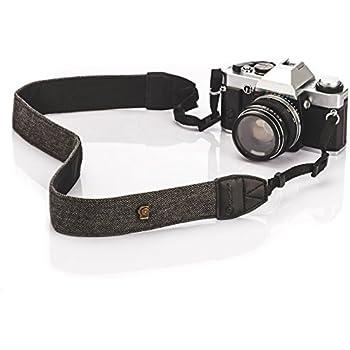 TARION Camera Shoulder Neck Strap Vintage Belt for All DSLR Camera Nikon Canon Sony Pentax Classic White and Black Weave