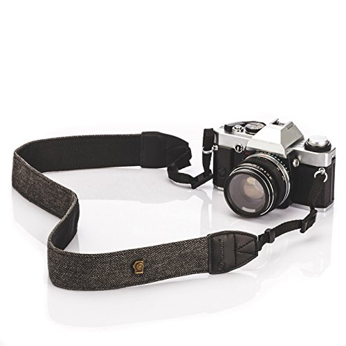 TARION Camera Shoulder Neck Strap Vintage Belt for All DSLR Camera Nikon Canon Sony Pentax Classic White and Black Weave (Strap Pentax)