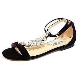 JIMMY CHOO F9450 Sandalo gioiello Donna Black Averie Jeweled Sandal Woman