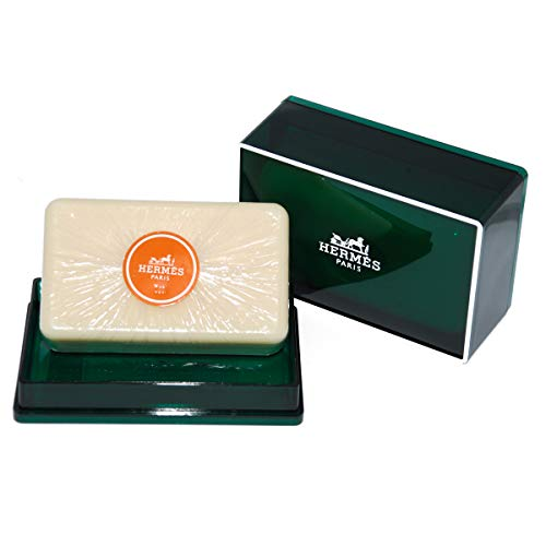 One (1) Luxury Hermès Jumbo Soap - Eau d'Orange Verte Gift Soap - Imported From Hermès Paris 5.2oz / 150g - Beautifully Gift Boxed Perfumed Soap/Savon Parfume  (Soap Box Luxury)