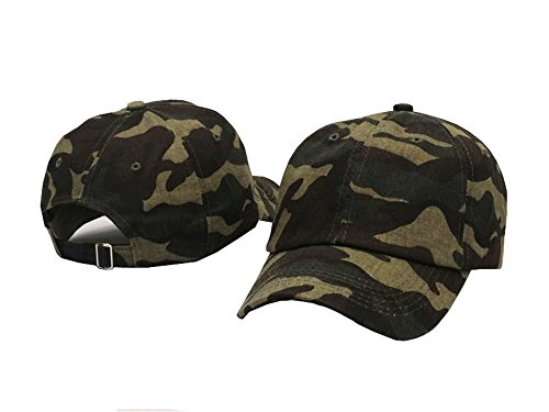 Plan Blank 100% Cotton Dad Hats Baseball Caps For Man And Women (Camouflage color) (Profile Camouflage Cap)