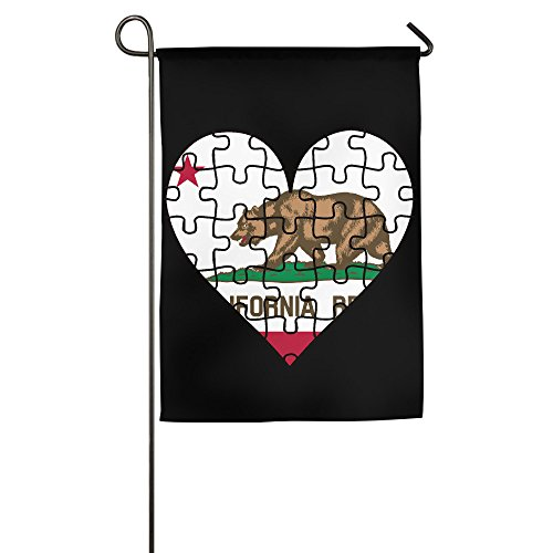 Hioyio Love California House Flag&Garden - California Fendi