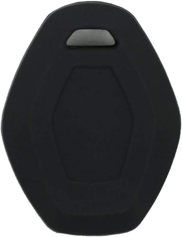 SEGADEN Silicone Cover Protector Case Skin Jacket fit for BMW 3 Button Remote Key Fob CV4902 Deep Blue