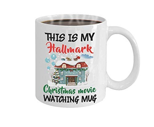 - BAKUWE Christmas Coffee mug, Funny Ceramic Cup for Christmas Movie Watching, 11oz