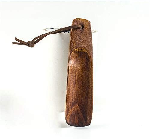 シューホーン 男性と女性ソリッド木製ポータブル簡単に着用する服の靴に適したシューズを取ります シンプルなデザインと耐久性 (色 : Multi-colored, Size : 15.5cm)