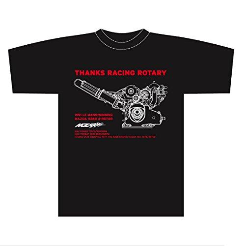ぶら下がる肉方法論MZRacing サンクス レーシングロータリーTシャツ2