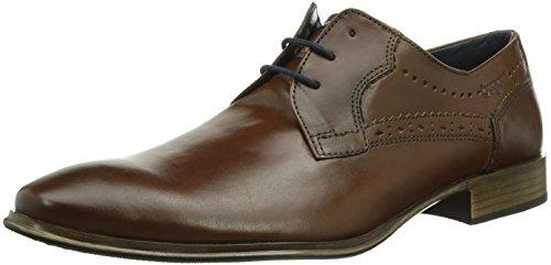 Bugatti U63081W - Zapatos de cordones de cuero para hombre marrón - Braun (cognac 644)