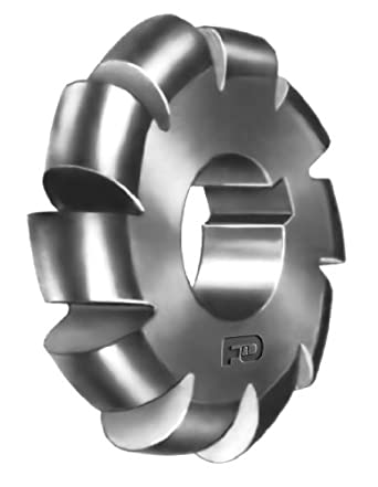 High Speed Steel 3//4 Hole Size F/&D Tool Company 11004-K120 Staggered Tooth Side Milling Cutter 3//8 Width of Face 2.125 Diameter