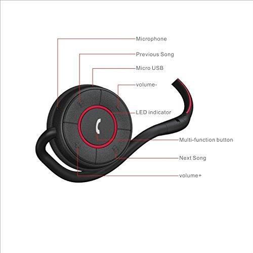 moudio m100 wireless stereo smart bluetooth headphones activity calorie trac. Black Bedroom Furniture Sets. Home Design Ideas