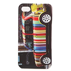 ZXSPACE Protective Colorful Hard Case for iPhone 4 / 4S (Car)