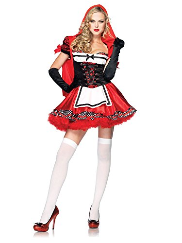 Divine Halloween Costume (Leg Avenue Women' S Divine Miss Dress With Padded Bra And Attached Hood, Multicoloured, Large)