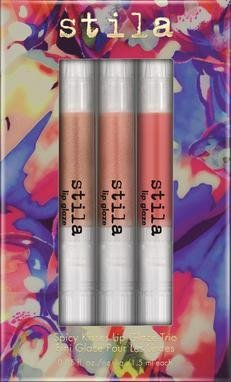stila Spicy Kisses Lip Glaze Trio, Kitten/Stargazer/Melon, 0.05 fl. oz.