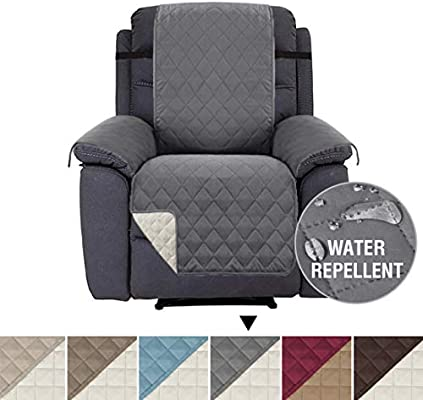 Waterproof Recliner Chair Covers for Armchairs Recliner Covers for Chair Reclining Chair Covers Protect from PetsDogs, Soft Quilted and Non Slip