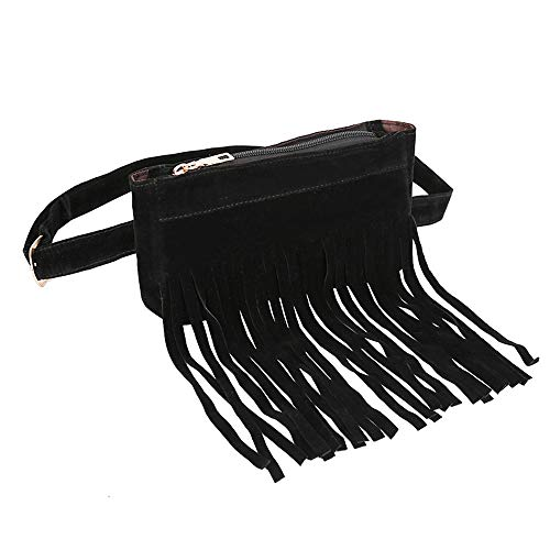 FitfulVan Clearance! Hot sale! Bags, Fashion Women Pure Color Square Flock Messenger Bag Chest Bag Waist Bag (Black)