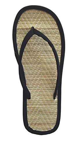 Womens Bamboo Sandal Flip Flops Flats Beach Summer Shoe 12, 18, 24pack-1212(12 pack lot Black)