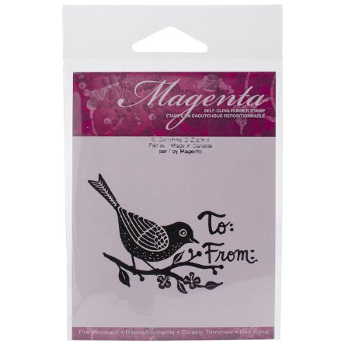 Magenta Cling Stamps, 1.75 by 2.75-Inch, ()
