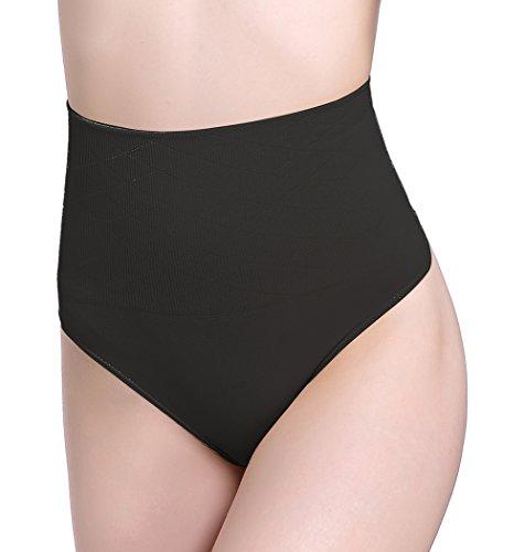 FIRSTLIKE Women Waist Cincher Girdle Tummy Slimming Briefs Sexy Thong Panties Fat Burner Shapewear