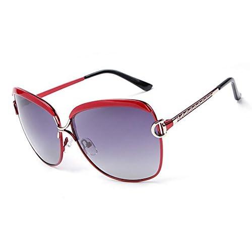 b927a883a Gafas de sol Hembra Vendimia Luz polarizada Protección UV 400 viaje al aire  libre Resina gafas