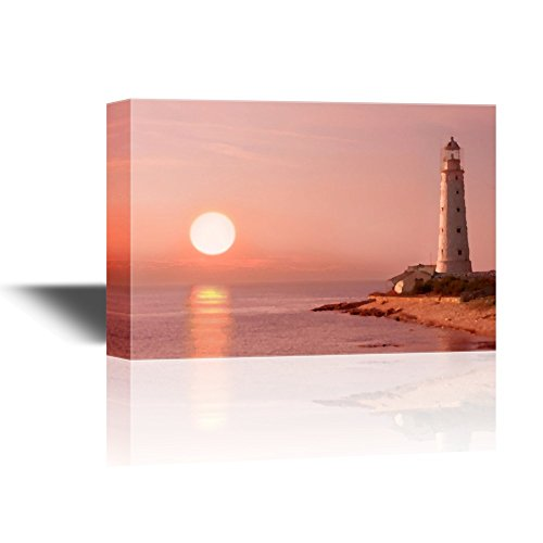 Abstract Landscape with Lighthouse and a Rising Sun Gallery