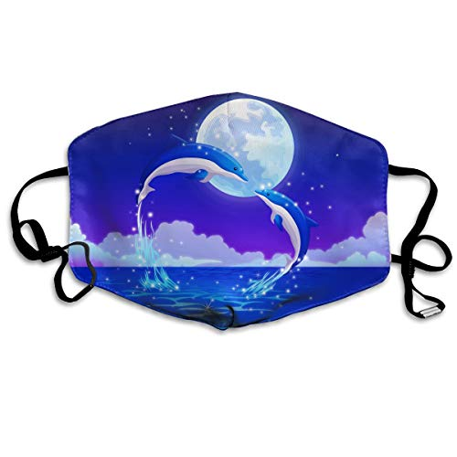 Unisex Dreamy Dolphin Love Anti-dust Lip Mask Mouth Face -