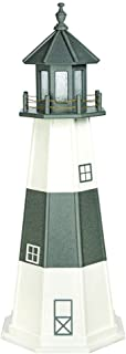 product image for DutchCrafters Decorative Lighthouse - Wood, Montauk Style (Black/White, 5)