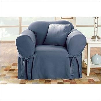 Cotton Duck Club Chair Slipcover Color: Bluestone
