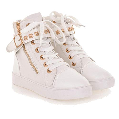 High Canvas White Zipper Top Shoes High Boots Casual Autumn Boots GUNAINDMX Low Female Casual Women'S Shoes Rivets Shoes 1wxS0