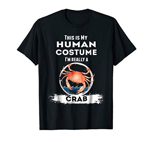 Crab Halloween Costume T-Shirt - This is My Human Costume